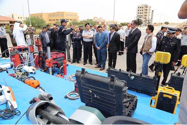 إقبال يشهده معرض الدفاع المدني الأردني المشارك في سوفكس