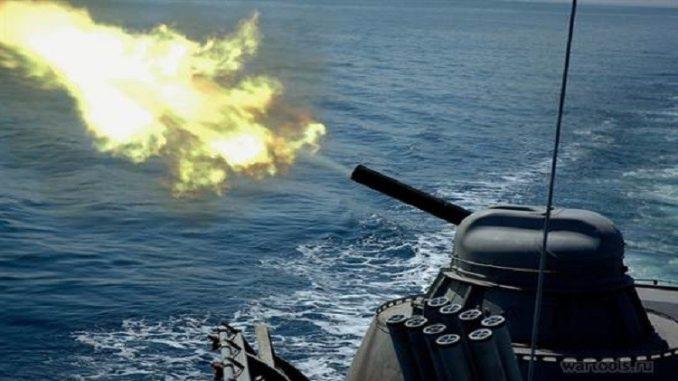 رماية المدفعية البحرية