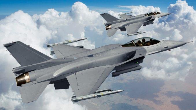 مقاتلتي F-16