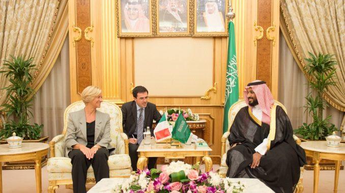 وزيرا الدفاع السعودي والإيطالية- التعاون العسكري