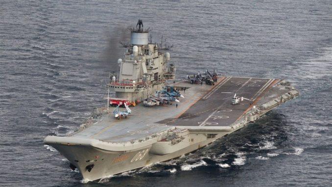 حاملة طائرات من الأسطول الروسي