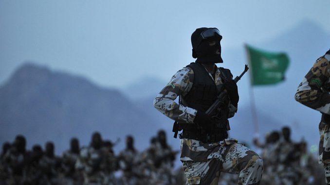 عنصر من القوات المسلحة السعودية