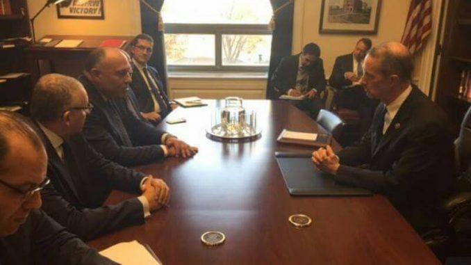 وزير خارجية مصر ورئيس لجنة الخدمات العسكرية الأميركية