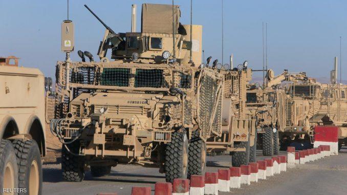 مركبات عسكرية متجهة إلى الموصل