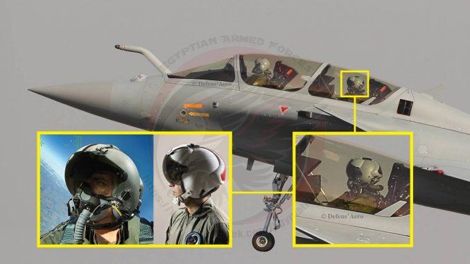 خوذة TARGO II الإسرائيلية على مقاتلة رافال