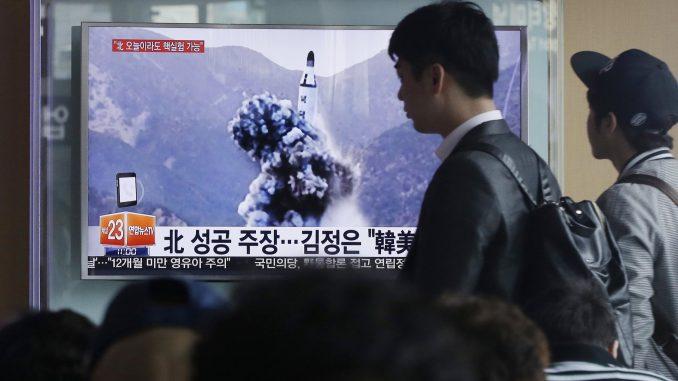 تجربة صاروخية لكوريا الشمالية في أبريل 2016