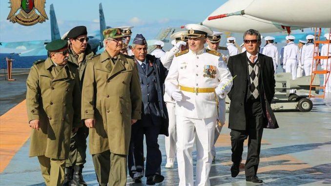 زيارة المشير حفتر إلى الأميرال كوزينستوف