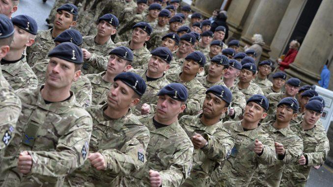 عناصر من الجيش البريطاني