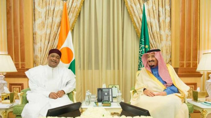 الملك السعودي ورئيس النيجر