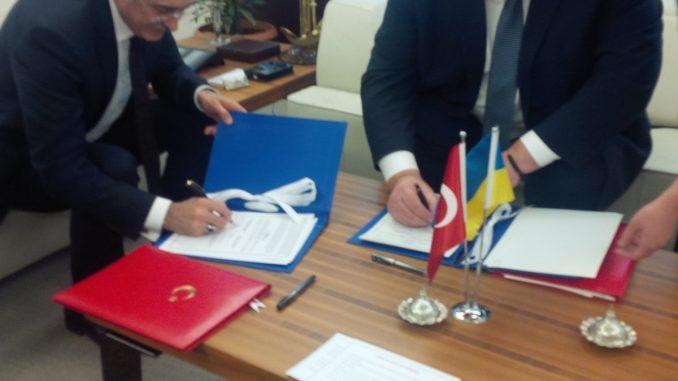 توقيع إتفاقية بين تركيا وأوكرانيا
