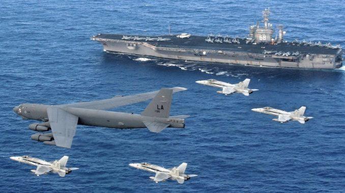 أسطول سفن وطائرات تابع للقوات المسلحة الأميركية