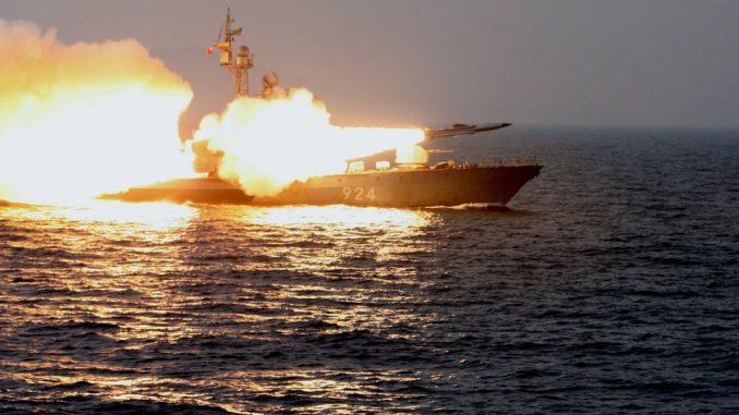 صاروخ موسكيت خلال عملية إطلاقه