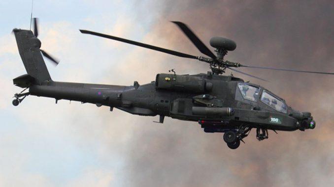مروحية أباتشي تابعة للجيش الأميركي