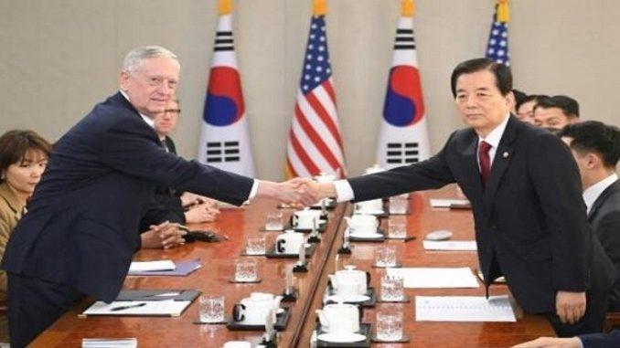 وزيرا الدفاع الكوري الجنوبي والأميركي