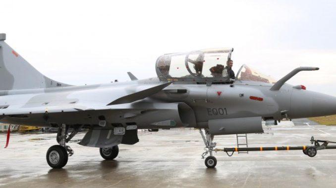 مقاتلة رافال القطرية بمقعد واحد
