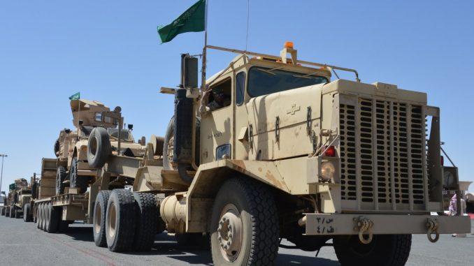 وصول القوات السعودية إلى الكويت
