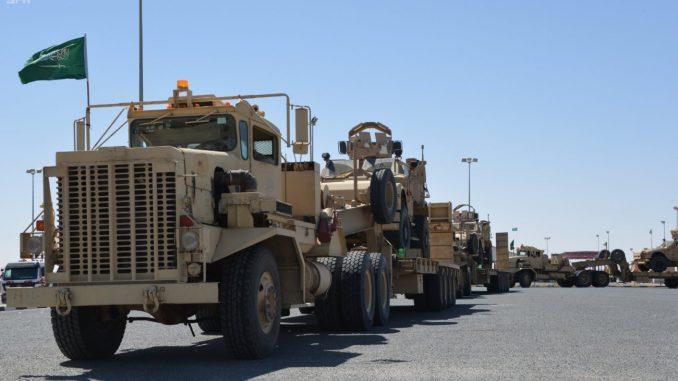 وصول القوات السعودية للمشاركة في حسم العقبان 2017