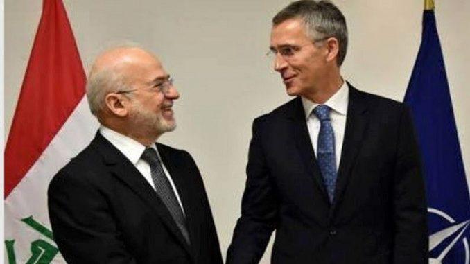 وزير الخارجية العراقي إبراهيم الجعفري وأمين عام الناتو ينس ستولتنبرغ