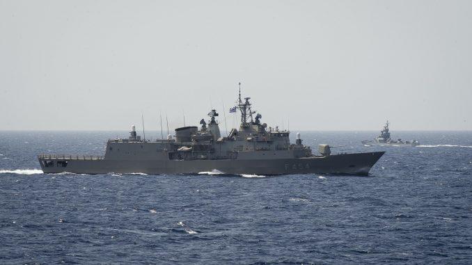 سفينة حربية تابعة للبحرية اليونانية