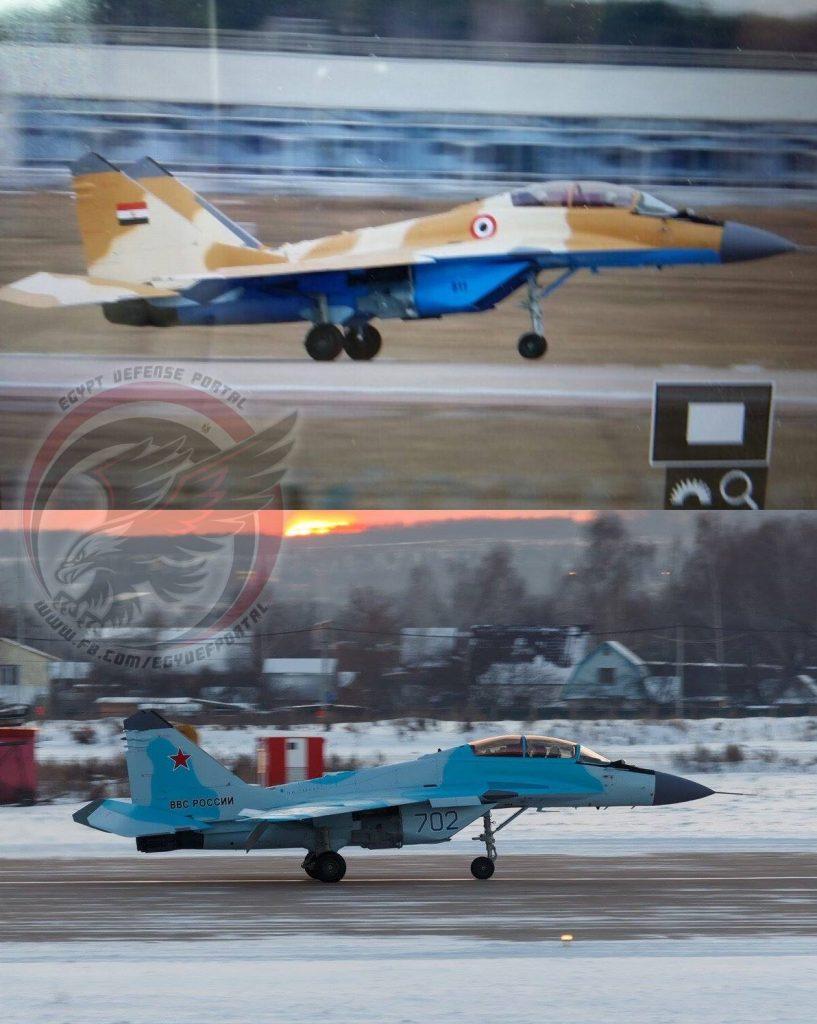 المقاتلة المصرية مماثلة في الأبعاد للمقاتلة الروسية MiG-35 كما في الصورة