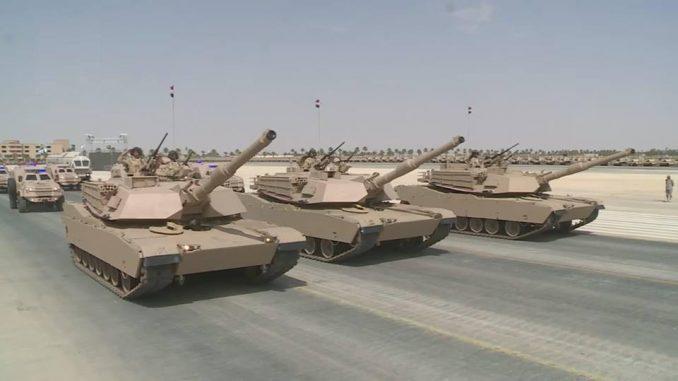 دبابات أبرامز تابعة لقوات التدخل السريع المصرية