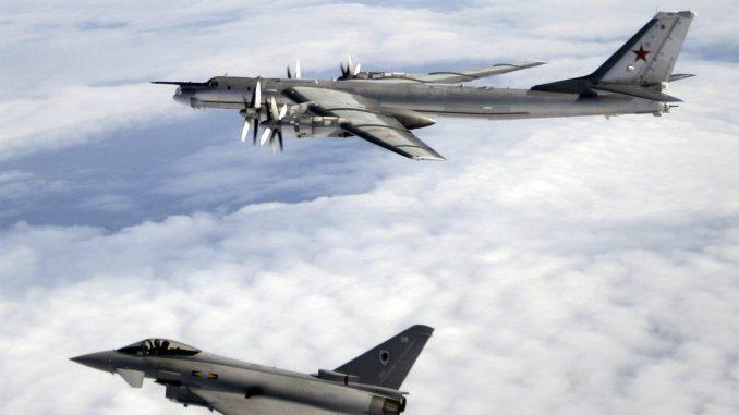 """القاذفة الروسية """"تي يو- 95 بير"""" حلقت قرب ألاسكا"""