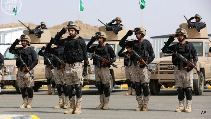 عناصر من القوات البرية الملكية السعودية