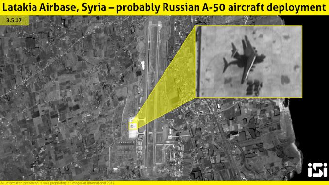 صور للأقمار الإصطناعية الإسرائيلية تظهر الطائرة الروسية في سوريا