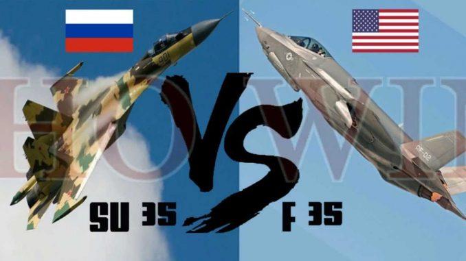 مقاتلة أف-35 ومقاتلة سو-35