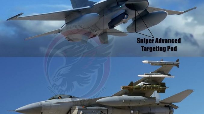 حواضن التهديف الخاصة بمقاتلات أف-16
