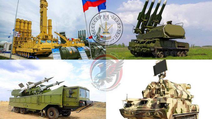 منظومات الدفاع الجوي المصرية
