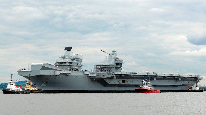 حاملة الطائرات البريطانية الملكة إليزابيث