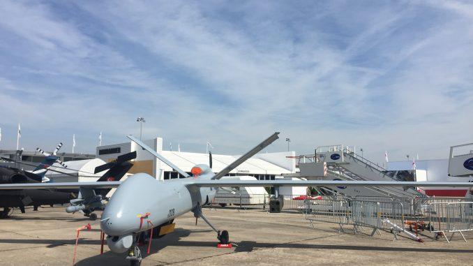 طائرة ANKA من دون طيار التركية (صورة حصرية من معرض باريس للطيران)