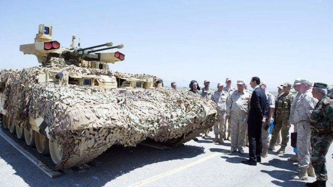 """مدرعة """"BMPT - 72"""" في سوريا"""