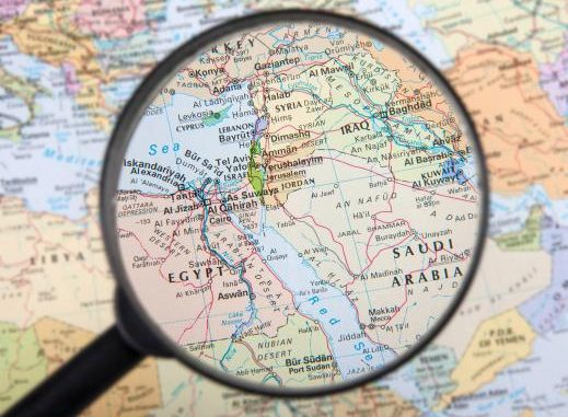 خريطة تركيا والشرق الأوسط