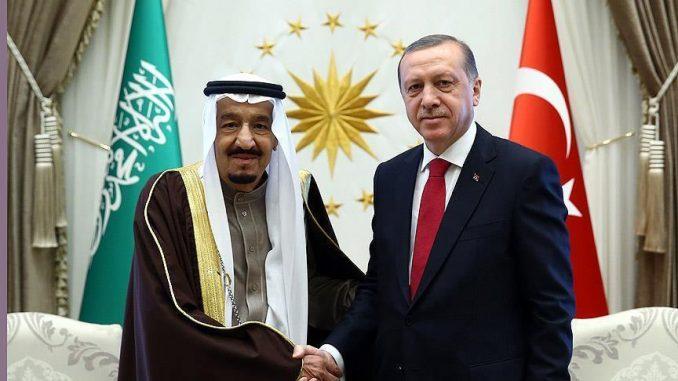 العاهل السعودي والرئيس التركي