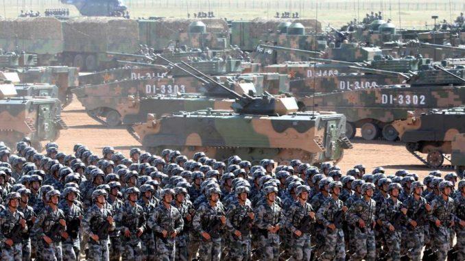 لقطة من العرض العسكري الصيني