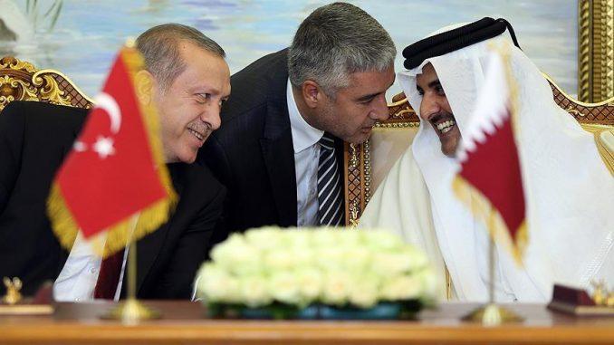 الرئيسان القطري والتركي