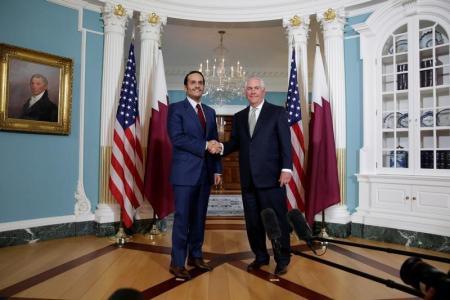وزيرا الخارجية الأميركي والقطري
