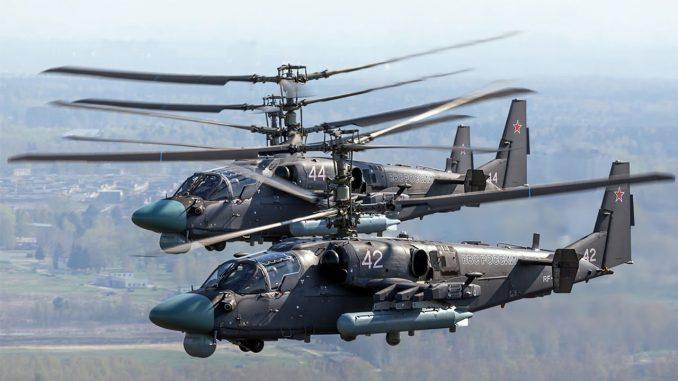 مروحيتا Ka-52 Alligator