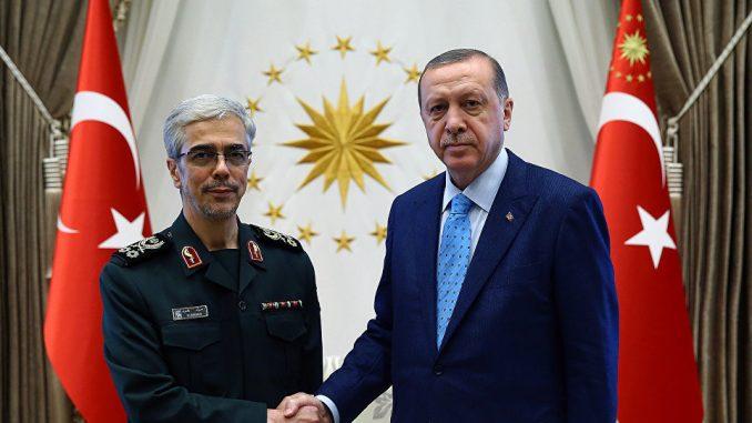 الرئيس التركي ورئيس أركان الجيش الإيراني