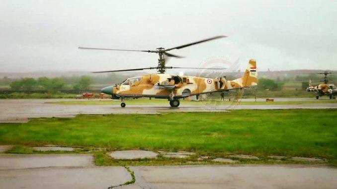 مروحية التمساح كا-52 تابعة للقوات الجوية المصرية (بوابة الدفاع المصرية)