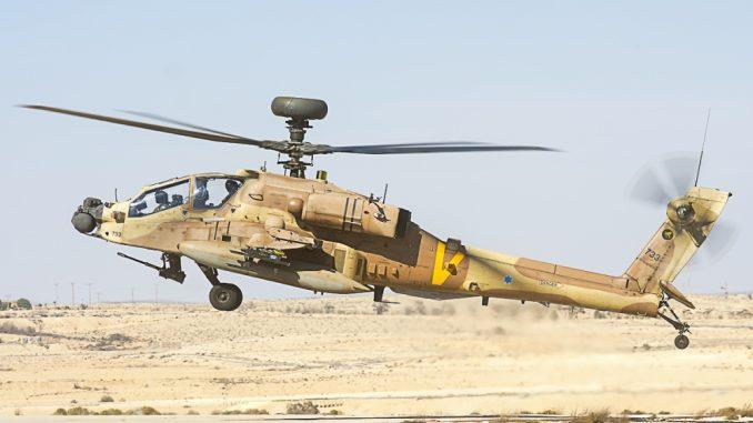 مروحية أباتشي تابعة لسلاح الجو الإسرائيلي