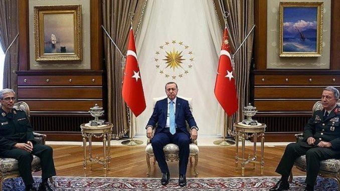 الرئيس التركي ورئيس الأركان الإيراني