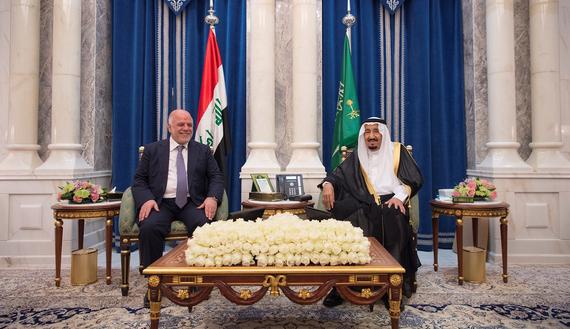 لقاء الملك السعودي ورئيس الوزراء العراقي في جدة