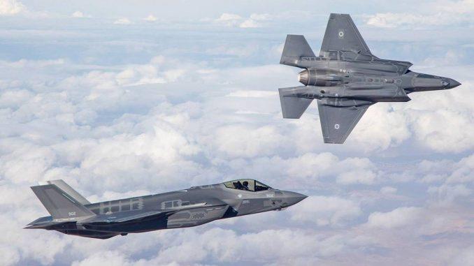 """مقاتلتان من نوع """"أف-35"""" تابعتان لسلاح الجو الإسرائيلي"""