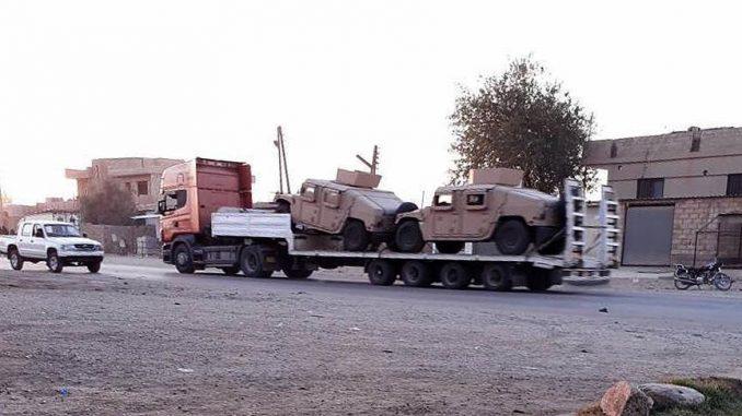 لقطة للشاحنة المحملة بالأسلحة (الأناضول)