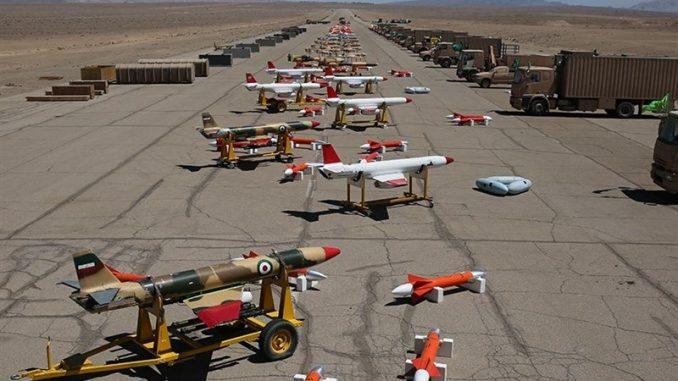 أول حظيرة طائرات من دون طيار إيرانية (وكالة تسنيم)