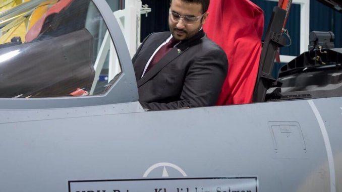 سفير السعودية يتفقد مقاتلة F-15SA