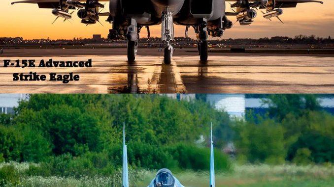 مقاتلتا أف-15 وسو-35